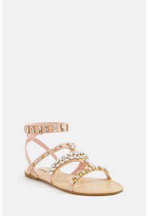 Roksanda Jeweled Flat Sandal