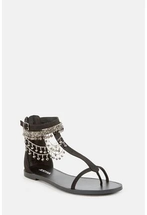 Whynna Jeweled Flat Sandal