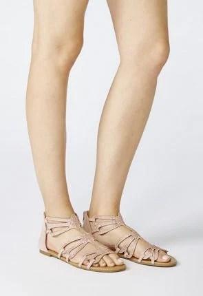 Whimsy Beaded Flat Sandal
