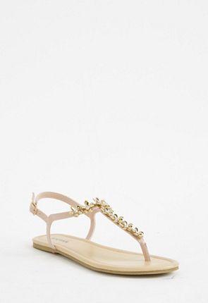 Syndra Embellished Flat Sandal