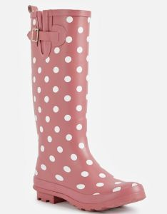 New also rainie rain boot in pink mauve get great deals at justfab rh