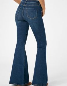 High waisted super flare jeans also justfab rh