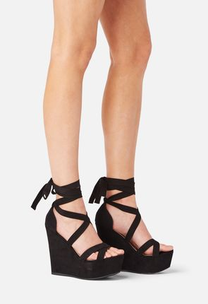 Dahlia Lace-Up Wedge