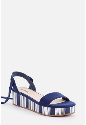 Lisa Platform Lace-Up Wedge