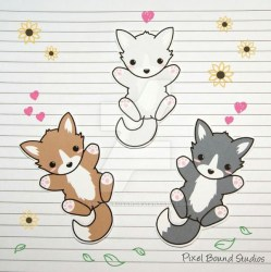 wolf easy draw chibi stickers drawings jf studios