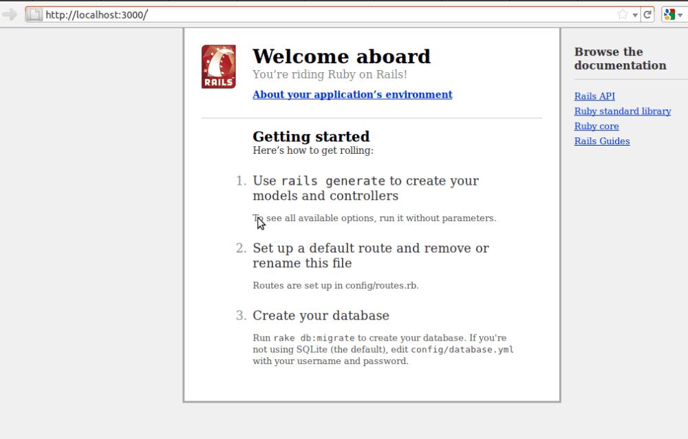 Levantar servidor Ruby on Rails en Ubuntu (y Fedora)