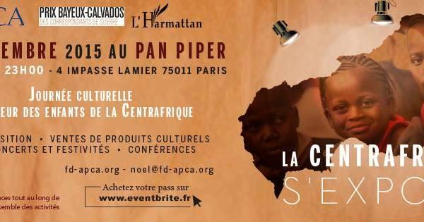 A ne pas rater ! – Dimanche 6 décembre : LA CENTRAFRIQUE S'EXPOSE – expositions, conférences, lectures, concerts, gastronomie…
