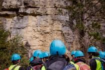Levé de la coupe du mont-rivel (Jura) - approche sédimentologie et paléo-écologique