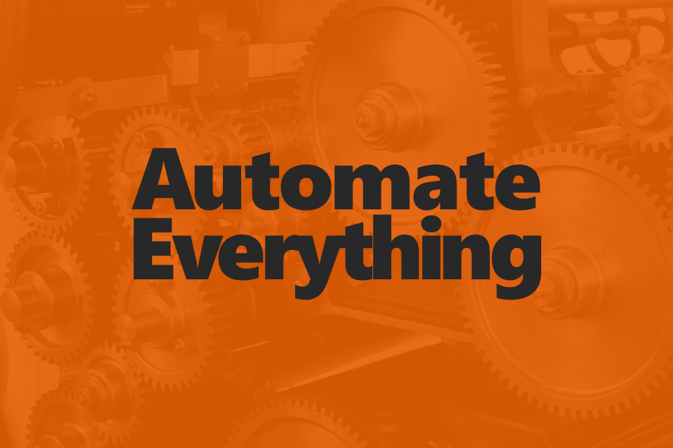 Announcing JFDI's Automate Everything Initiative