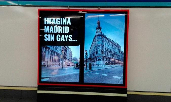 LGBT Publicité controversée imaginez Madrid sans homosexuels