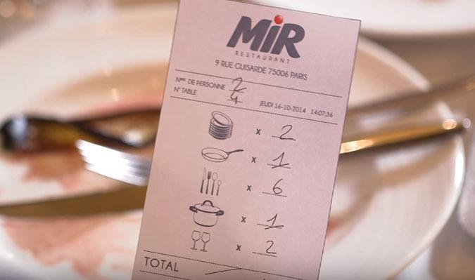 MIR Restaurant Paris vaisselle