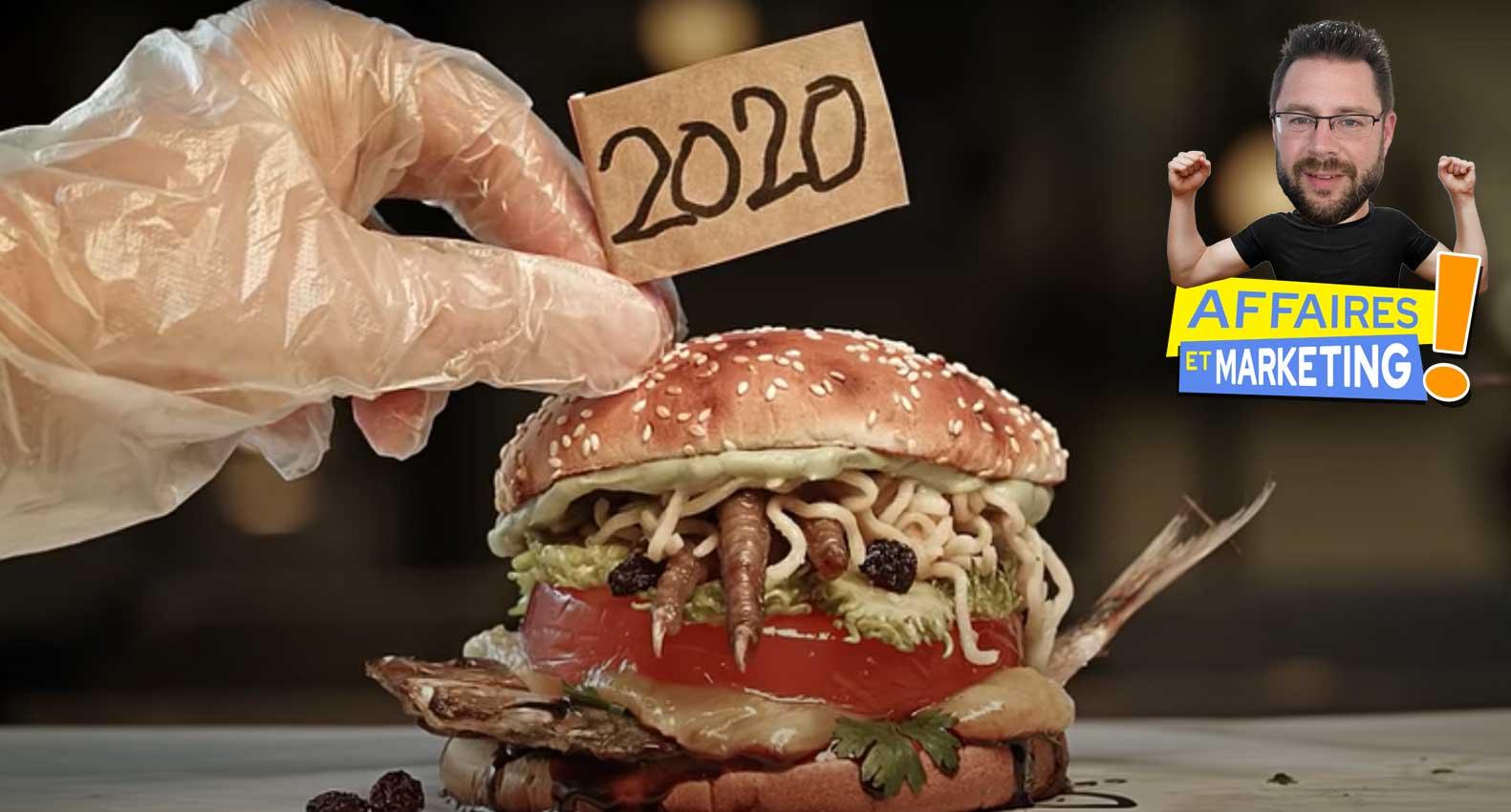 Burger King présente un hamburger qui reflète l'année 2020
