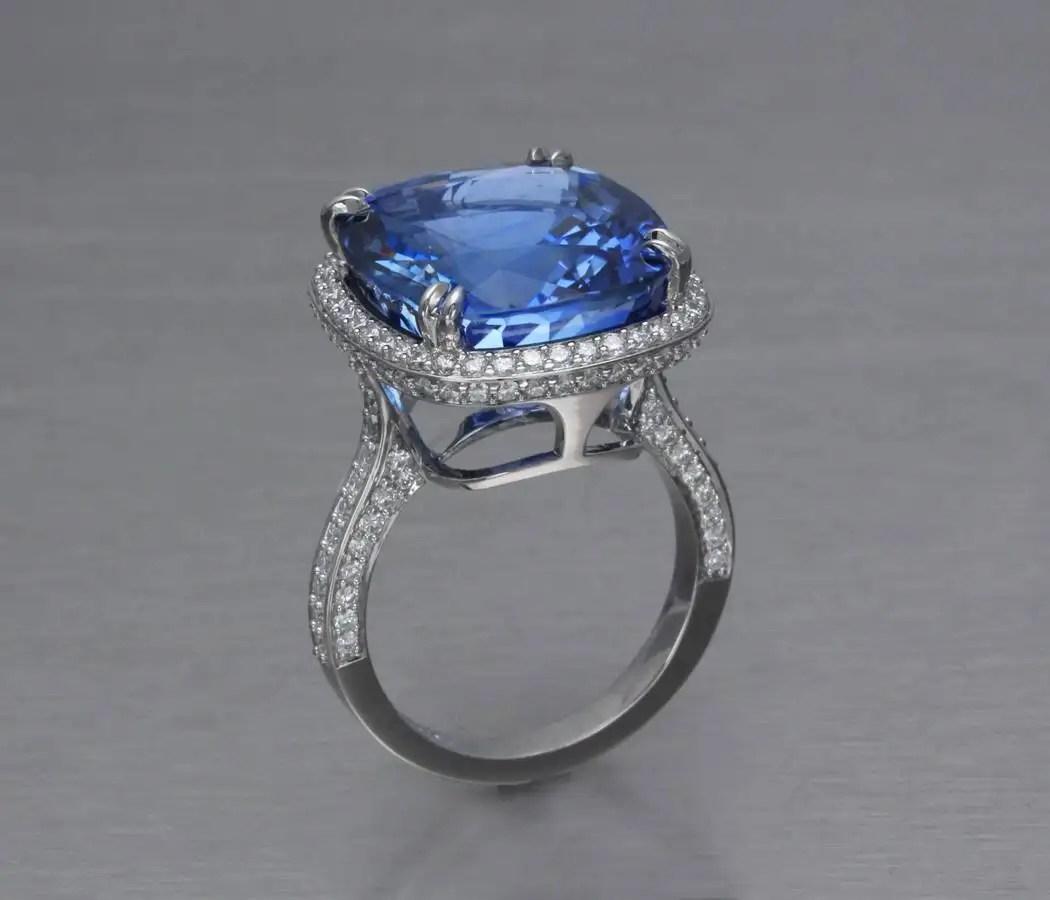 Blue Sapphire Engagement Ring  Jonathans Fine Jewelers