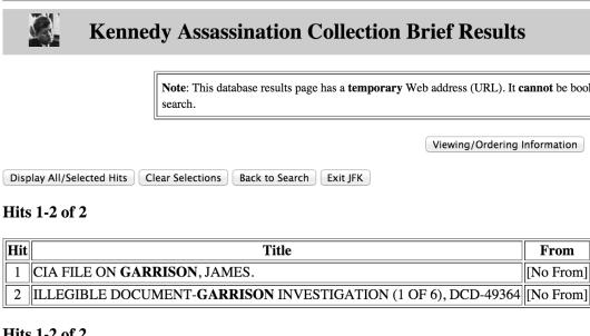 Garrison files