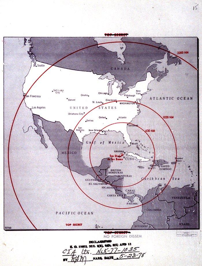 Missilemap : missilemap, Cuban, Missile, Crisis, Range, Library