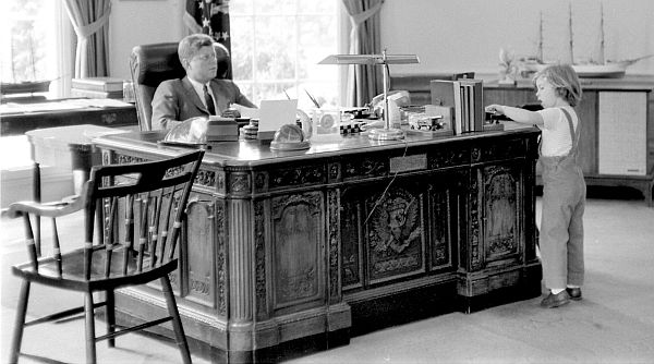 JFK+50 SITS AT THE RESOLUTE DESK (5/6)