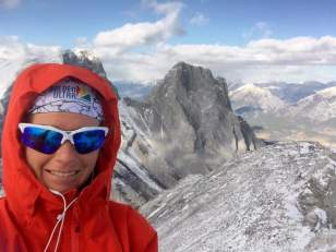 Summit Selfie, with a Little Sister photobomb
