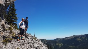 Arielle and Philippe - feeling accomplished after finally getting above treeline