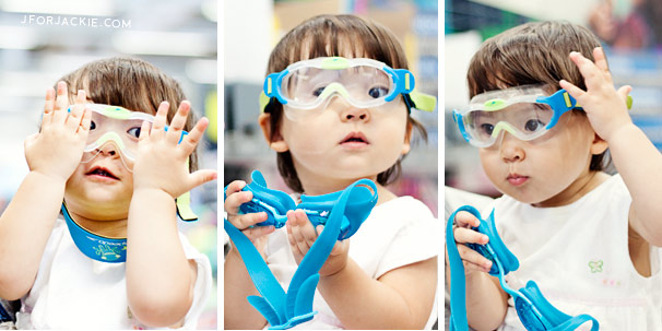 31 July 2013 - Swim goggles for Toddlers