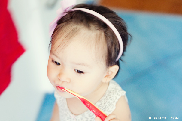 01 August 2013 - Brushing teeth