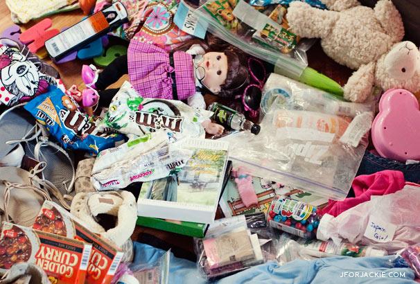 Auntie's bag of American Goodies