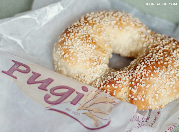 Sesame Bagels in Florence - Focacceria Pugi