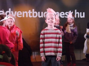 Jonathan was part of a Christmas performance with his kindergarten class