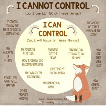 Photo of what you can and cannot control
