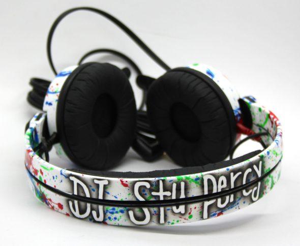 Customise splatter pattern Sennheiser HD25 DJ Headphones with your name -2775