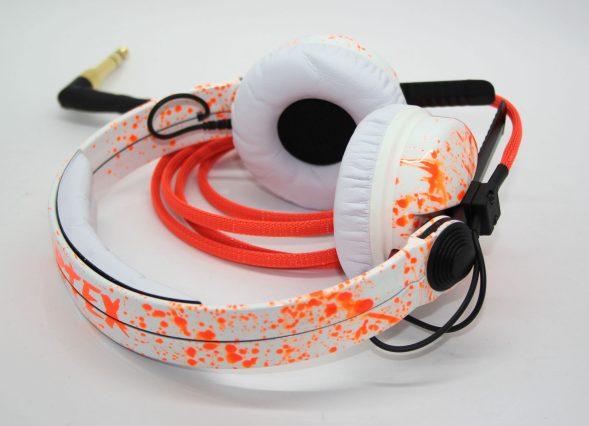 Customise splatter pattern Sennheiser HD25 DJ Headphones with your name -2781