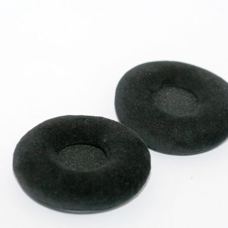 Official Sennheiser HD25 Black Velour Replacement Earpads – Set of 2 – Fits all HD25 series – 069417