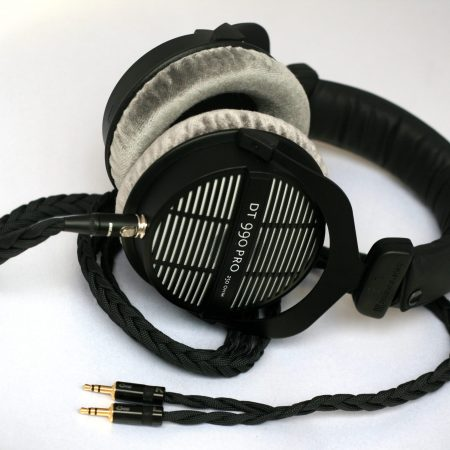Custom Cans Uber DT990 headphones with modified drivers and detachable balanced litz cable (PonoPlayer, XLR, A&K, Onkyo, Sony PHA-3)