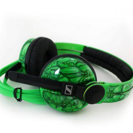 Toxic Avenger Fluorescent Custom HD25, Sennheiser HD25 Customised