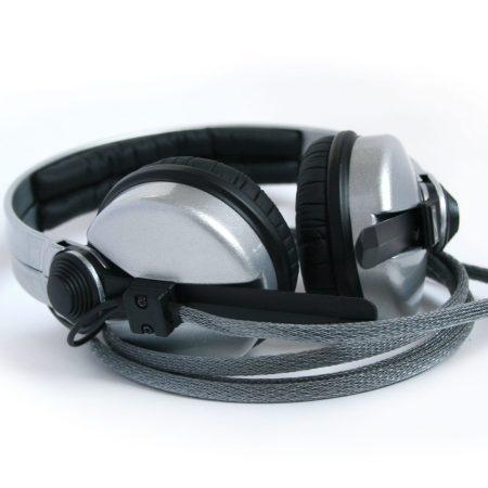 Rock Star Silver Sennheiser HD25 DJ Headphones with 2yr warranty