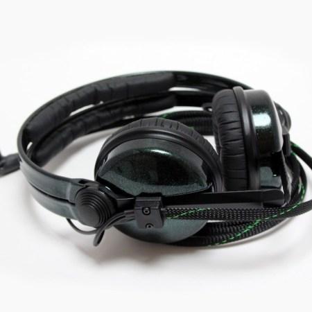 Custom Cans Hot Rod Sparkle Green HD25 Customised DJ Headphones with 2 yr warranty