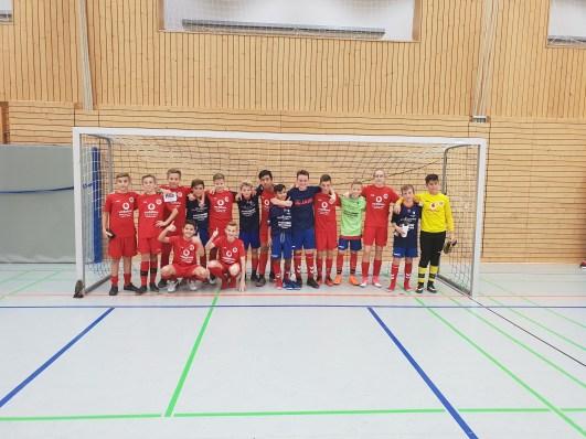 Die D1 Teams des SSV Ettlingen und SV Sinzheim