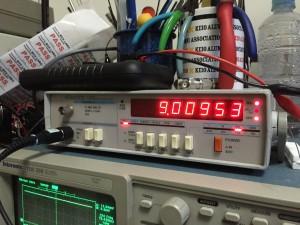 9.01300 MHzであるべき 大きく乖離