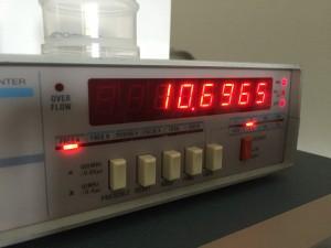 USBのキャリア周波数 10.6965MHzに調整 約500Hzズレていた