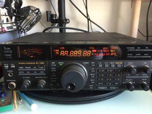 LCD異常のIC-736