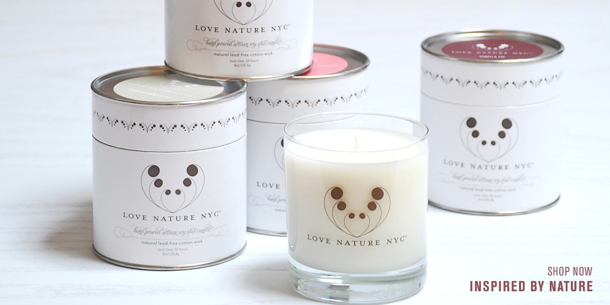 Inspired by Nature Candle Collection by Love Nature NYC, JG & CO