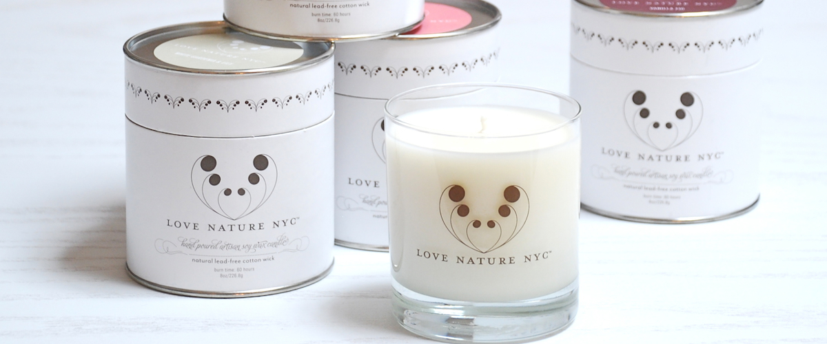 Inspired by Nature Candle Collection by Love Nature NYC