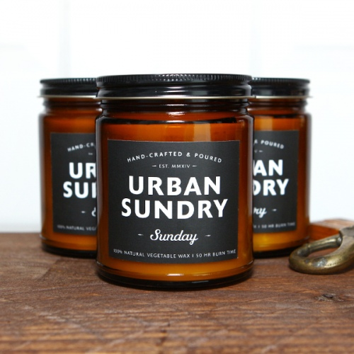 URBAN SUNDRY AMBER JAR CANDLES