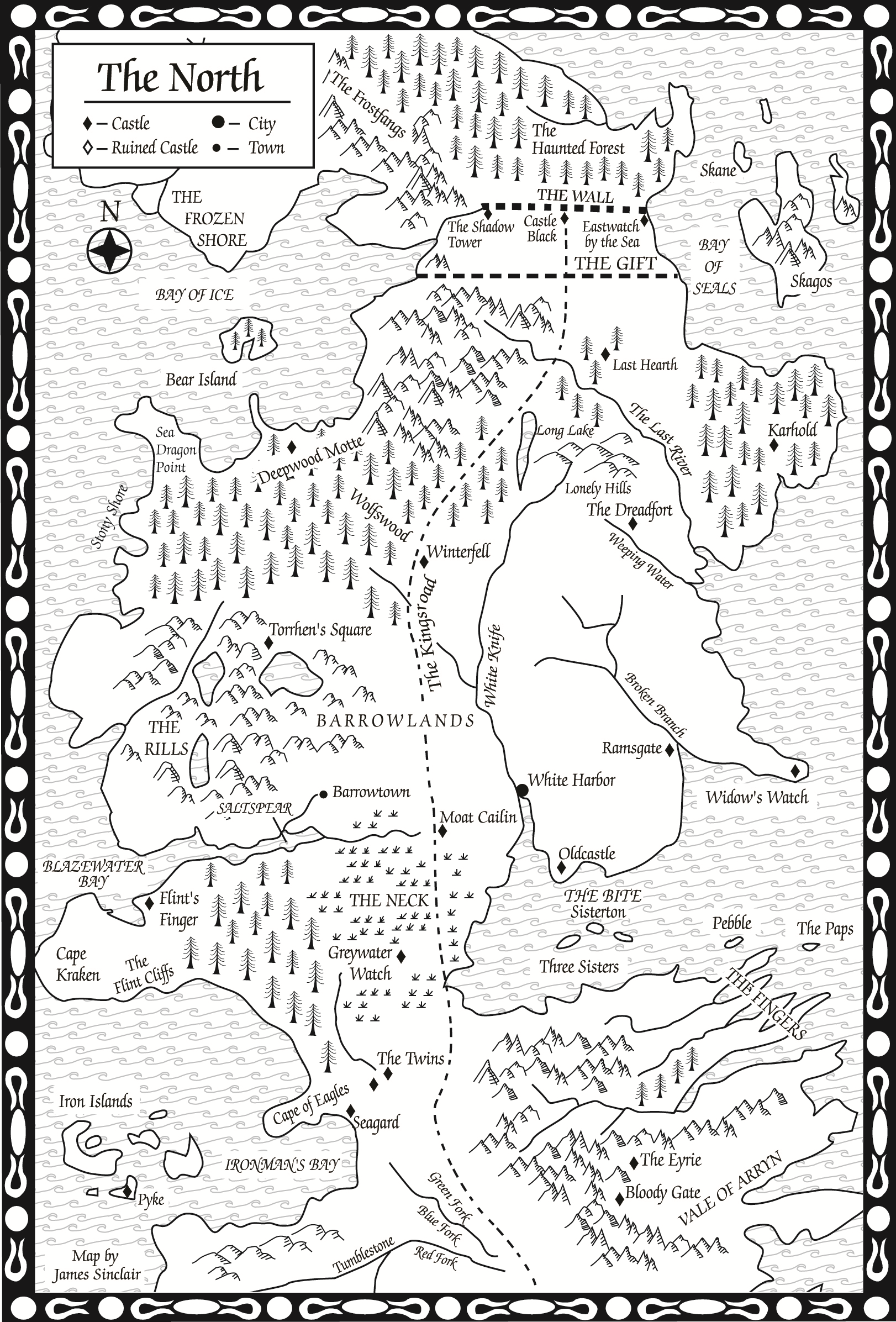 Maps are cool! » Map of ThronesMaps are cool!