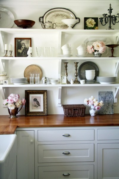 open shelving kitchen Gorgeous Open Shelving in the Kitchen! | Paint It What I