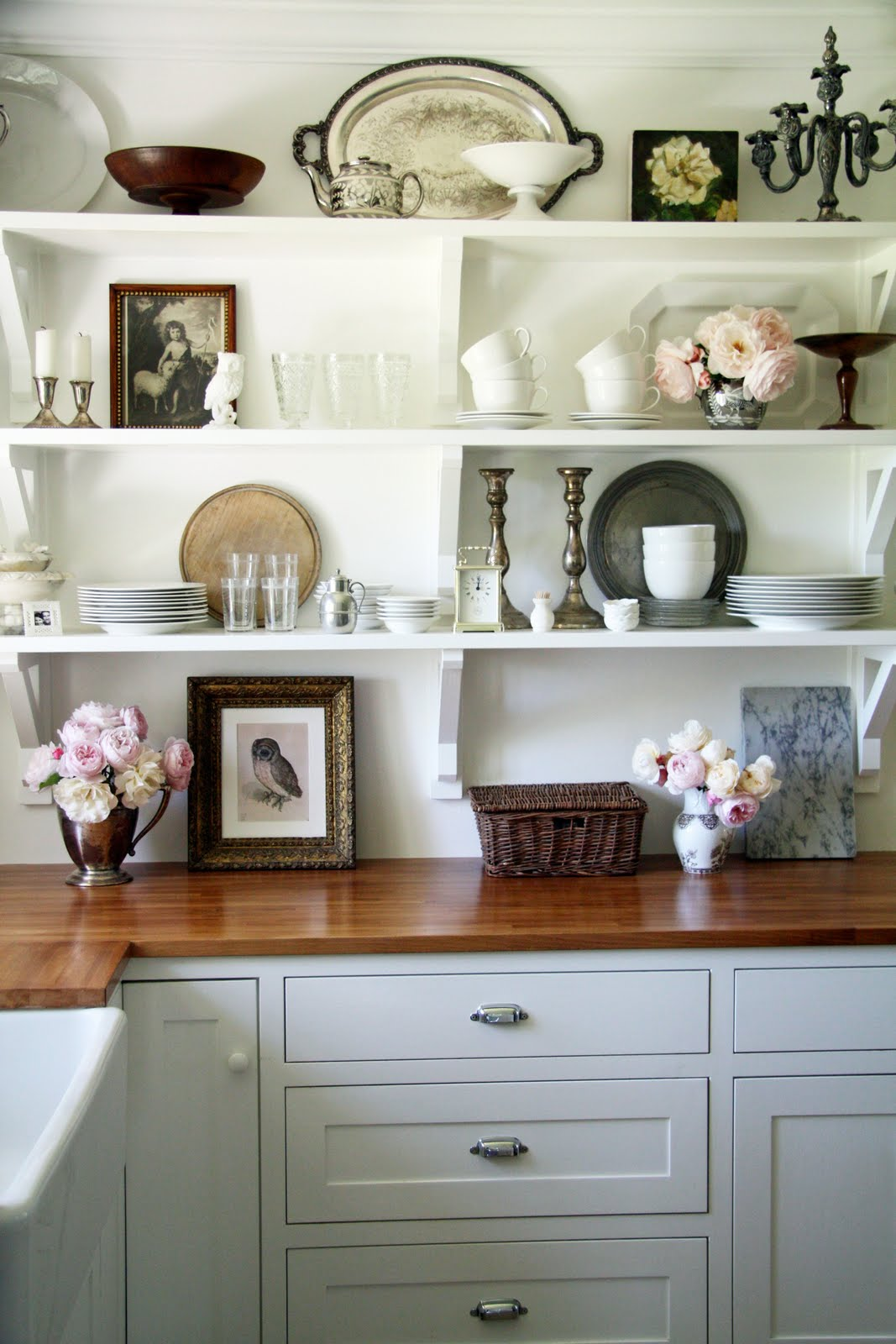 country shelves for kitchen broan hood gorgeous open shelving in the paint it what i
