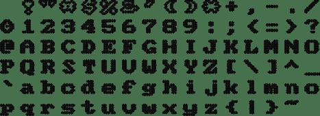 Tipografías para proprinter de 9 agujas