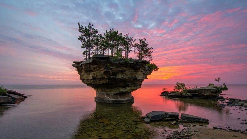 Turnip Rock at sunrise