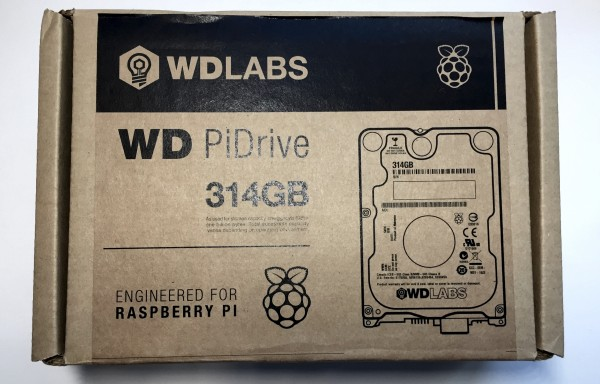 WD PiDrive in its brown box
