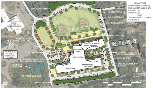 The design plan for Easton's Early Elementary School. Voters approved the project on Election Day, Tuesday, Nov. 5. (Photo courtesy Easton Public Schools)