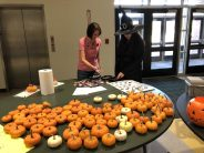 King Philip High School's Gender-Sexuality-Alliance Club and National Honor Society offered small pumpkin painting at the Spooktacular event. (Photo courtesy King Philip Regional School District)